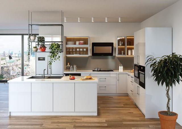 Nhà bếp thiết kế với đầy đủ tiện nghi